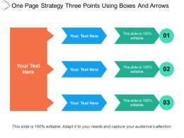 One Page Strategy Three Points Using Boxes And Arrows