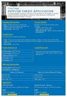 One Page Supplier Credit Application Presentation Report Infographic PPT PDF Document