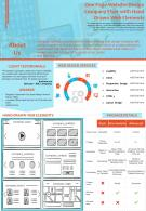 One Page Website Design Company Flyer With Hand Drawn Web Elements Report PPT PDF Document