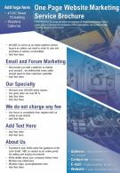 One Page Website Marketing Service Brochure Presentation Report Infographic PPT PDF Document