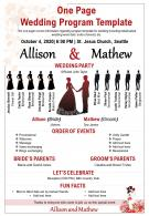 One Page Wedding Program Template Presentation Report Infographic PPT PDF Document