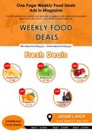 One Page Weekly Food Deals Presentation Report Infographic PPT PDF Document
