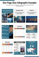 One Page Zine Infographic Example Presentation Report Infographic PPT PDF Document