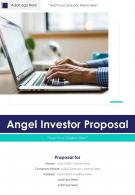 One Pager Angel Investor Proposal Template