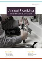 One Pager Annual Plumbing Maintenance Proposal Template