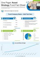 One Pager Asset Strategy Fund Fact Sheet Presentation Report Infographic PPT PDF Document