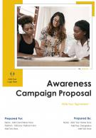 One Pager Awareness Campaign Proposal Template