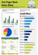 One Pager Bank Sales Sheet Presentation Report Infographic PPT PDF Document