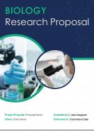 One Pager Biology Research Proposal Template