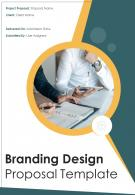 One Pager Branding Design Proposal Template