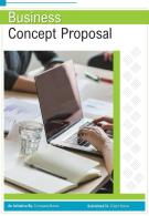 One Pager Business Concept Proposal Template