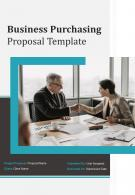 One Pager Business Purchasing Proposal Template