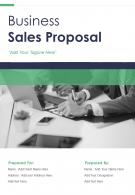 One Pager Business Sale Proposal Template