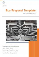 One Pager Buy Proposal Template
