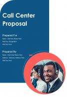 One Pager Call Center Proposal Template