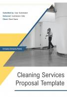 One Pager Cleaning Services Proposal Template
