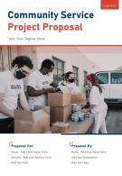 One Pager Community Service Project Proposal Template