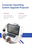One Pager Computer Operating System Upgrade Proposal Template