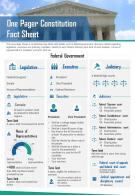 One Pager Constitution Fact Sheet Presentation Report Infographic PPT PDF Document