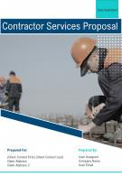 One Pager Contractor Services Proposal Template