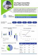 One Pager Convertible Bond Fund Fact Sheet Presentation Report Infographic PPT PDF Document