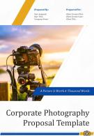 One Pager Corporate Photography Proposal Template