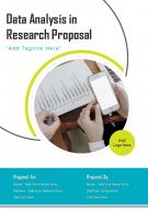 One Pager Data Analysis In Research Proposal Template