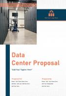 One Pager Data Center Proposal Template