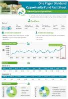 One Pager Dividend Opportunity Fund Fact Sheet Presentation Report Infographic PPT PDF Document