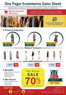 One Pager Ecommerce Sales Sheet Presentation Report Infographic PPT PDF Document