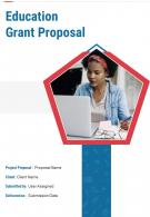 One Pager Education Grant Proposal Template