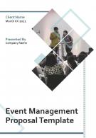 One Pager Event Management Proposal Template