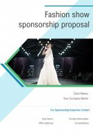 One Pager Fashion Show Sponsorship Proposal Template