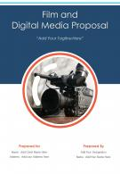 One Pager Film And Digital Media Proposal Template
