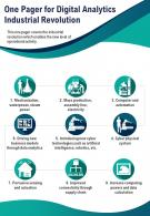 One Pager For Digital Analytics Industrial Revolution Presentation Report Infographic PPT PDF Document