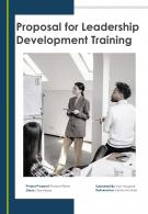 One Pager For Leadership Development Training Proposal Template