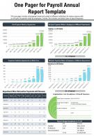 One Pager For Payroll Annual Report Template Presentation Report Infographic PPT PDF Document