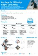 One Pager For PTT Design Graphic Consultancy Presentation Report PPT PDF Document