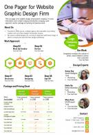 One Pager For Website Graphic Design Firm Presentation Report Infographic PPT PDF Document