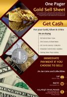 One Pager Gold Sell Sheet Presentation Report Infographic PPT PDF Document
