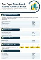 One Pager Growth And Income Fund Fact Sheet Presentation Report Infographic PPT PDF Document