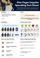 One Pager Impulse Spending Fact Sheet Presentation Report Infographic PPT PDF Document