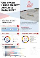 One Pager Labor Market Analysis Data Sheet Presentation Report PPT PDF Document