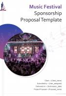 One Pager Music Festival Sponsorship Proposal Template