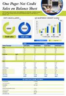 One Pager Net Credit Sales On Balance Sheet Presentation Report PPT PDF Document