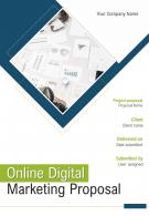 One Pager Online Digital Marketing Proposal Template
