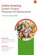 One Pager Online Ordering System Project Proposal For Restaurants Template