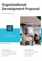 One Pager Organizational Development Proposal Template