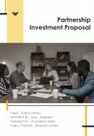 One Pager Partnership Investment Proposal Template