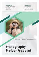 One Pager Photography Project Proposal Template